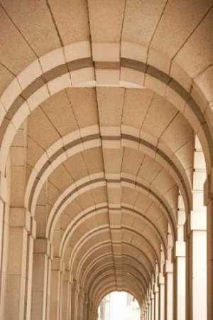 Feelingathome.it, STAMPA SU TELA 100% cotone INTELAIATA Hong Kong Archway cm 71x46 (dimensioni personalizzabili a richiesta)