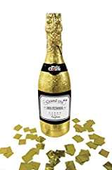 Idea Regalo - P' tit Clown re28901 – Bottiglia di Champagne Lancia Coriandoli Glitter, oro
