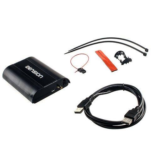 DENSION DAB + U (DBU3GEN) Universal Digital Radio DAB interface + pour la maison et pour les véhicules avec port USB installé en usine pour BMW, Audi, Seat et beaucoup plus, Skoda et Citroën.