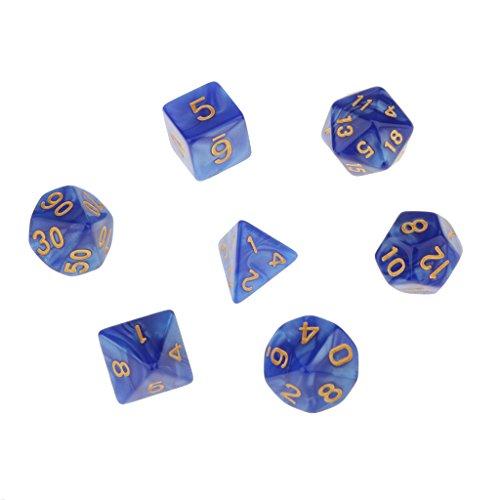 7pcs-juegos-de-mesa-dados-multi-caras-trpg-d4-d20-patron-perla-con-puntitos-dorados-azul