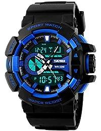 SKMEI Analog-Digital Black Dial Men's Watch - AD1117 (BLK- BLU)