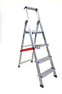 Alu Shakti Aluminium Light weight 3' Ladder (Silver)