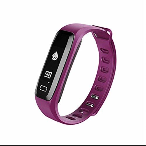 Aktivitätstracker Herzfrequenz mit Herzfrequenz Schrittzähler Schlafmonitor und Kalorienzähler, Aktivitätstracker Armband Uhr Aktivitätstracker für samsung/huawei/sony/apple