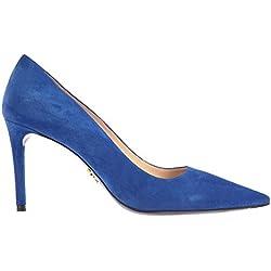 Prada Damen 1I803e008f0016 Blau Wildleder Pumps