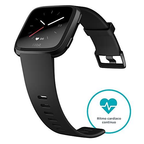Fitbit Versa - Reloj Deportivo Unisex - Negro / Gris - Talla Única