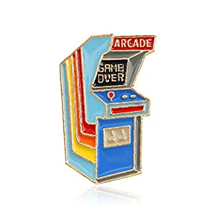 Ancjiape Impeccable 1pc Cartoon Arcade Spiel Over Emael Brooch Pins Metal Badges for Bags Clothes Jewelry Geschenke