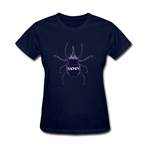 kettyny Saosin de las mujeres diseño de la cinta algodón T Shirt