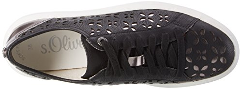 s.Oliver Damen 23629 Sneakers Schwarz (BLACK COMB 98)