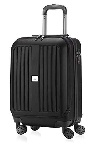 HAUPTSTADTKOFFER - X-Berg - Handgepäck Koffer Trolley Hartschalenkoffer, TSA, 55 cm, 42 Liter, Schwarz matt
