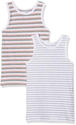 NAME IT Baby-Mädchen Unterhemd NMFTANK TOP 2P Grey Mel NOOS, 2er Pack, Mehrfarbig Melange, 98