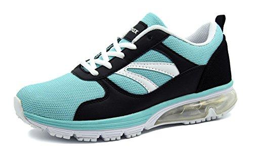 Knixmax Damen Sportschuhe Bequem Turnschuhe Atmungsaktiv Running Sneaker Outdoor Fitnessschuhe Leicht Laufschuhe EU 38-(UK 5) Light Blau