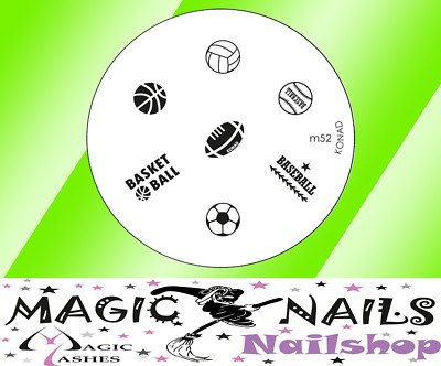 Magic Items Konad stamping pochoir M52 Nail Art neuf