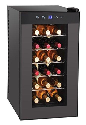 Guzzanti GZ 22 Enfriador de vino termoel/éctrico con puerta de vidrio de hasta 18 botellas 33 l