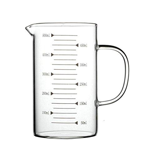 GuDoQi 17 Oz Glas Messbecher Mit Ergonomischem Griff Dicke Wand Klare Messungen Backofen Und Gefrierschrank Verfügbar Zum Backen Kochen Gießen Flüssigkeit