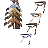 #2: SBE Acoustic Wooden Guitar Capo For 6 String With 4 Pick Plectrums, 6-Acoustic Electric Strings For Guitar Ukulele Bass With Thong Instrument Accessories(Redwood)