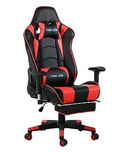 Storm racer ergonomico gaming sedia girevole per ufficio for Sedia ufficio con poggiapiedi