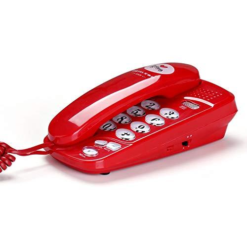 Wand-Telefon Festnetz Home Office Hotel Kabel Festnetz Telefon Anrufer-ID-Erweiterung Terminal (Farbe : Red)