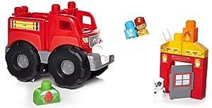 Mega Bloks Camión de bomberos, juguete de construcción para bebé +1 año (Mattel DXH38)