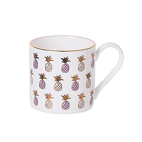 La tasse Tasse à café en porcelaine Tasse à cappuccino Tasse à boissons glacières 320ml, Ananas