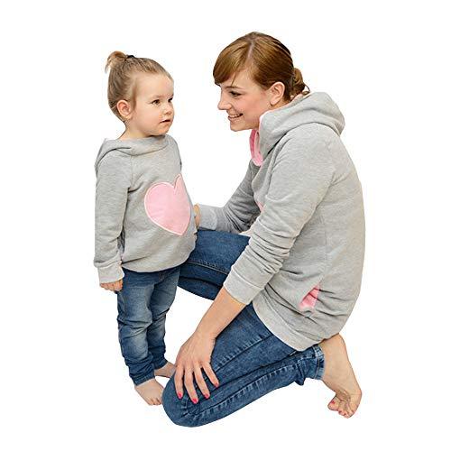 JiaMeng Weihnachten Weihnachten Eltern-Kind Elch Print Overall Anzug Familie Kleidung Hoodie Outfit/Männliches Modell/Kinder /