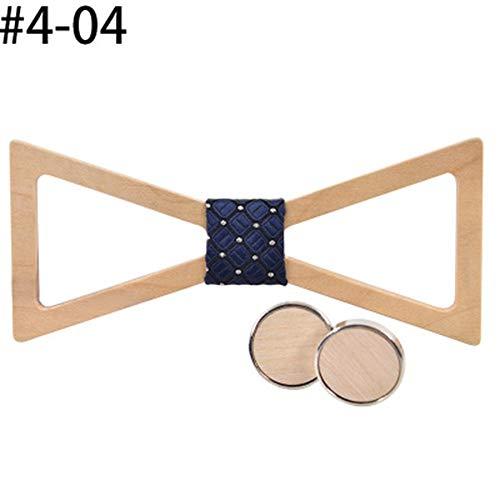YAOSHI-Bow tie/tie Krawatten und Fliegen für Dreieck hohlen hölzernen Kragen Herren Knoten Hochzeit Casual Shirt Fliege Set Krawatten und Fliegen für (Farbe : 404, Größe : Free Size) (Dreieck Bow Tie)