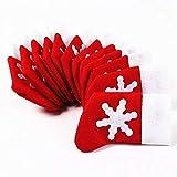 Topways® Decoración Navidad Cena , Navidad decoración de la mesa calcetines de Navidad cubiertos bolsillos soporte 12 pcs