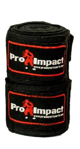 Pro Impact Boxen/MMA Boxbandagen 457,2cm Mexiko Stil Elastic 1Paar, schwarz -