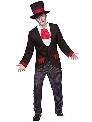 """Disfraz de Halloween para hombre del Victorian del vampiro adulto (S 37"""")"""