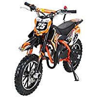 Kinder Mini Crossbike Gepard 49 cc 2-takt inklusive Tuning Kupplung 15mm Vergaser Easy Pull Start verstärkte Gabel Dirt Bike Dirtbike Pocket Cross