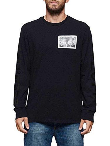Herren Langarmshirt Element Fluff T-Shirt Flint Black