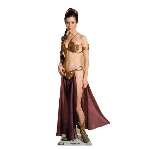 (Life-Size Stand-up (Lebensgroßer Pappaufsteller) Leia Gold Bikini Palace Slave Girl (Aufsteller Standup Cardboard Cutout))