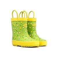 Chipmunks Wellington Boots, Waterproof Chick Yellow, Green