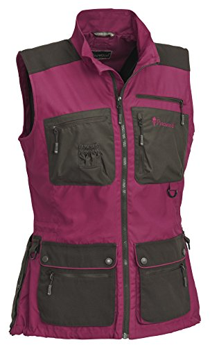 Pinewood New Dog Sports Damen Weste Fuchsia/Wildlederbraun, M