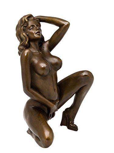 aubaho Bronzefigur nackte Dame Akt erotische Kunst Bronze Bronzeskulptur sculpture