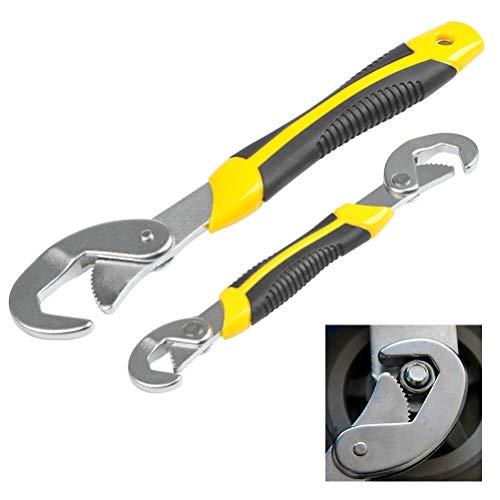 QLOUNI Multischlüssel 2-tlg Universal Werkzeug Schlüssel 9~32mm Maulschlüssel Set Schnell Verstellbarer Schraubenschlüssel - Maulschlüssel-set Stück 9