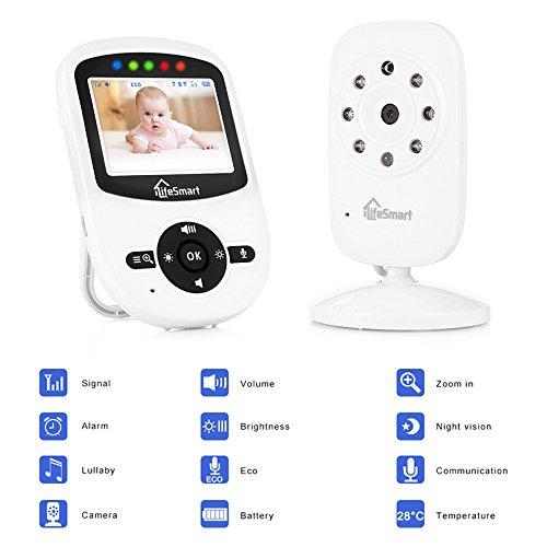 iLifeSmart SM24 Video Baby Monitor 2.4 Inch Babyphone mit Nachtsicht Temperaturüberwachung und Timer-Einstellung Funktionen Drahtlos Digital Kamera - 2