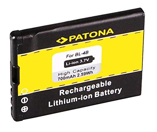 Batería BL-4B | BL4B para Nokia 1606 | 2505 | 2630 | 2660 | 2760 | 3606 | 5000 | 6111 | 7070 Prism | 7370 | 7373 | 7500 Prism | 7088 | N75 | N76 y mucho más... [ Li-ion, 700mAh, 3.7V ]