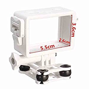 MASUNN Support De Caméra Antichoc Blanc Pour Gopro Sjcam Syma X8C X8W X8G Quadcopter