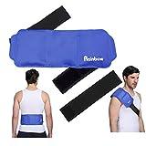 Impacco di ghiaccio per la compressione a freddo caldo - Riutilizzabile e flessibile impacco di gel per lesioni sportive, infiammazioni, gonfiore, sollievo dal dolore articolare, distorsioni, artrite
