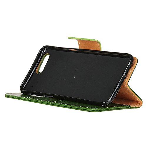 iPhone 7 Plus Coque, SHANGRUN Texture Rétro Haute qualité Cuir TPU Intérieur de Magnétique Folio Wallet Portefeuille avec Carte de Crédit Fentes Supporter Housse Étui Cover Case pour iPhone 7 Plus 5.5 Vert