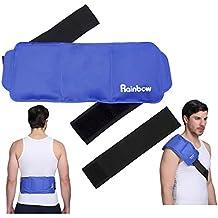 """Espalda Paquete de hielo de Hombros para cuello, rodilla, reutilizables grandes gel frío o caliente paquetes para lesiones médicas 15""""x 5.9"""""""