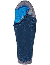 The North Face Kazoo Saco de Dormir, High Rise Grey/Hyper Blue, Long