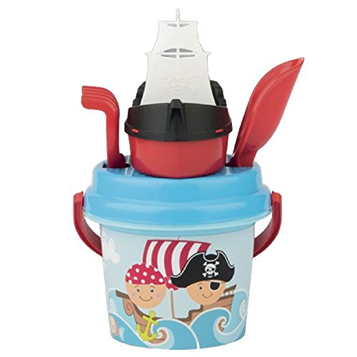 Simba 107114082 - Pirat Baby Eimergarnitur Sandspielzeug (Piraten-baby)