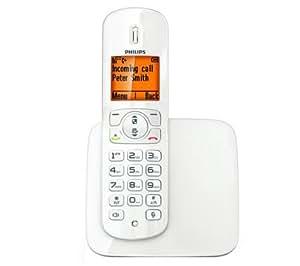 PHILIPS Téléphone DECT CD2801W / FR - blanc + Filtre ADSL . .