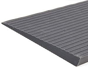 Fabacare Threshold Ramp Rubber with Adhesive-Ramp Threshold Ramp, Wheelchair Ramp Threshold Grey 10mm x 100mm x 700mm, Threshold Height 1cm