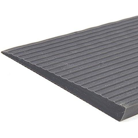 Rampa fabacare soglia Rampa di gomma, per soglia della porta, grigio, soglia Rampa, Sedia a rotelle Rampa, 28mm x 200mm x 1000mm, altezza 2,8cm