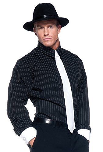 Gestreifte Kostüm Gangster Shirt - Underwraps XXL