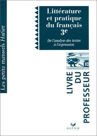 Lis Francais 3eme Litterature Et Pratique Du Francais De L