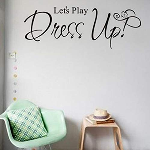 KDGJG Let's Play Dress Up Günstige Tapete Wandbild Große Wandaufkleber Für Kinderzimmer Wandkunst Aufkleber Dekoration ()