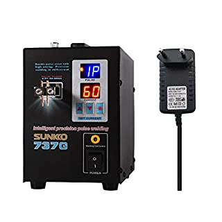 KKmoon Schweißgerät, Dualmodus Pedal Battery Spot Schweißer, Doppelimpuls Doppelanzeige Präzision Batterie Touch Schweißer Spot